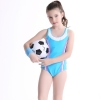 color 7colorful halter one-piece girl bikini swimwear