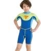color 22018 new design short sleeve boy  wetsuits swimwear