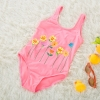 color 1lovely floral one piece children girl swimwear
