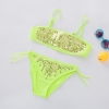 color 5fashion Sequins little girl kid swimwear bikini two piece set