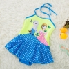 color 3carton girl printing little girl teen swimwear