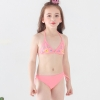 color 1candy flower printing little girl bikini teen  swimwear swimsuit