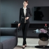 Blackfashion office business women pant suits  work uniform