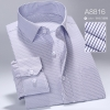 color 16high quality business men formal office work shirt