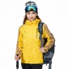 women yellowfashion candy color Interchange Jacket outdoor coat