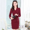 color 1long sleeve fashion spring women business suits  (skirt + coat)