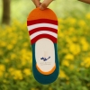 color 2casual candy stripes anti creep man sock slipper