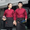 Europe style restaurant  chef jacket side open cooking uniform