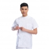 white(short coat)right side opening male dentist long sleeve uniform jacket suityou