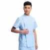 blue(short coat)right side opening male dentist long sleeve uniform jacket suityou