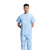 blue(short coat + pant)right side opening male dentist long sleeve uniform jacket suityou