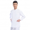white(long coat)right side opening male dentist long sleeve uniform jacket suityou