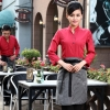 women redcasual Korea design  autumn bar waiter uniform
