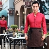men redcasual Korea design  autumn bar waiter uniform