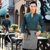 men blackish greencasual Korea design  autumn bar waiter uniform