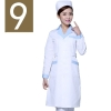 women white ( light blue collar)winter high quality long sleeve front opening nurse doctor coat uniform
