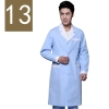 men blue( white collar)winter high quality long sleeve front opening nurse doctor coat uniform