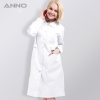 Whitelong sleeve Peter pan collar  medical care center nursing uniforms coat