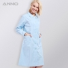 Light Bluelong sleeve Peter pan collar  medical care center nursing uniforms coat