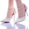 white shoes heel 9cmtop quality fashion noble women bride shoes young girl party shoes