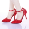 red shoes heel 9cmtop quality fashion noble women bride shoes young girl party shoes