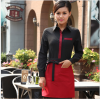 women long sleeve blackClassic Korea fashion high quality hotel workplace men women shirt uniform
