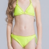 5colorful-dashed hem girl swimwear girl bikini