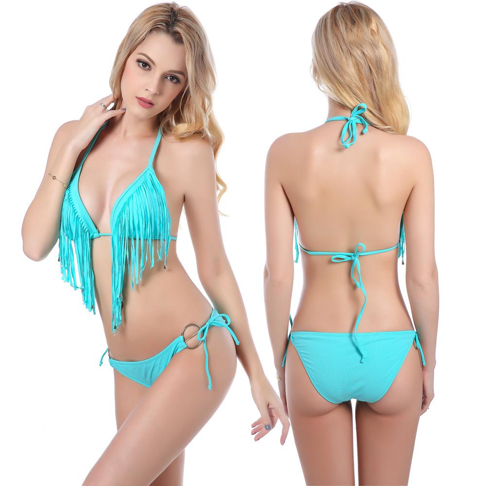 Fashion Design Tassel Bikini Swimear