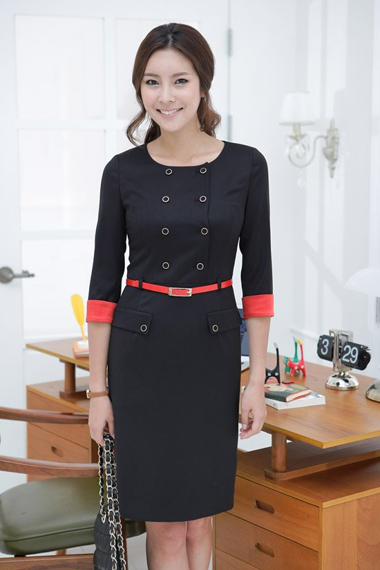 Korea design women work dress