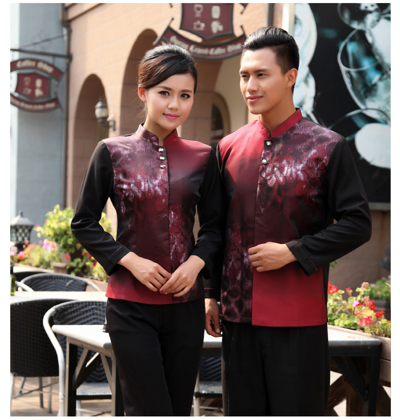 traditional Chinese tea house uniforms