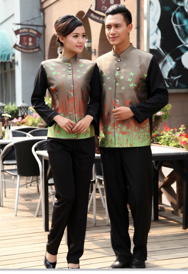 traditional Chinese waiter blouse