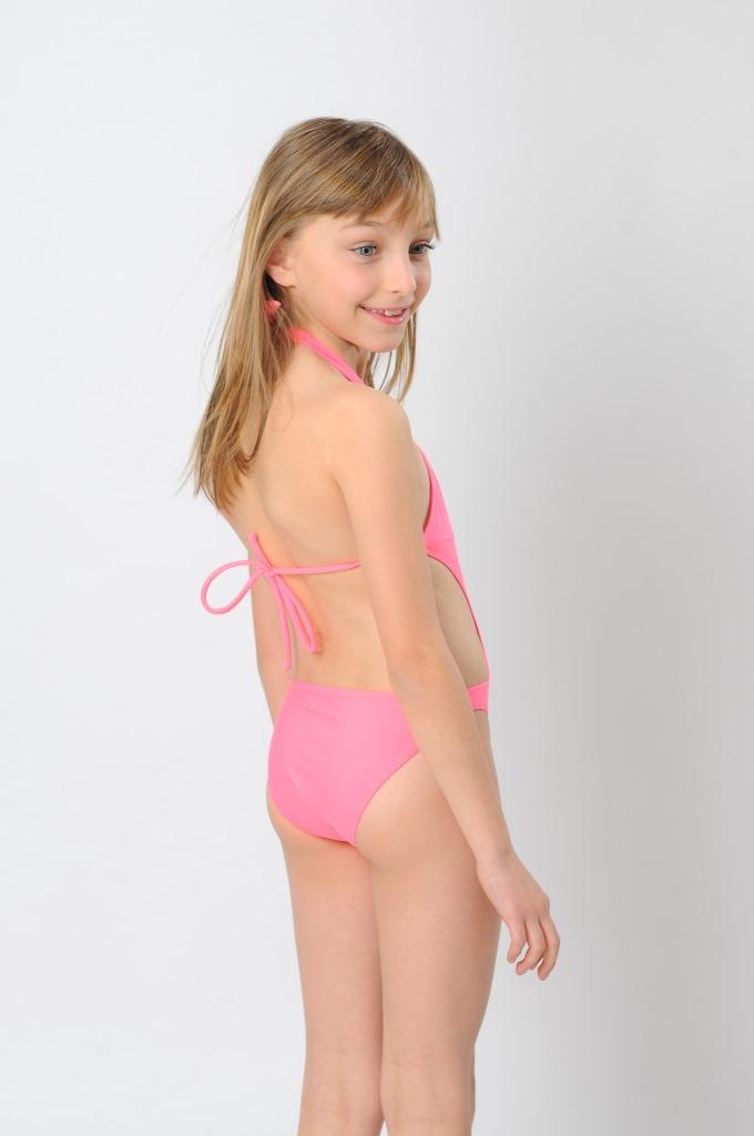 Colorful Halter Two Piece Girl Bikini Swimwear